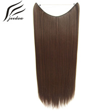 jeedou Straight Synthetic Line Flip Hair Extension 0ne Piece