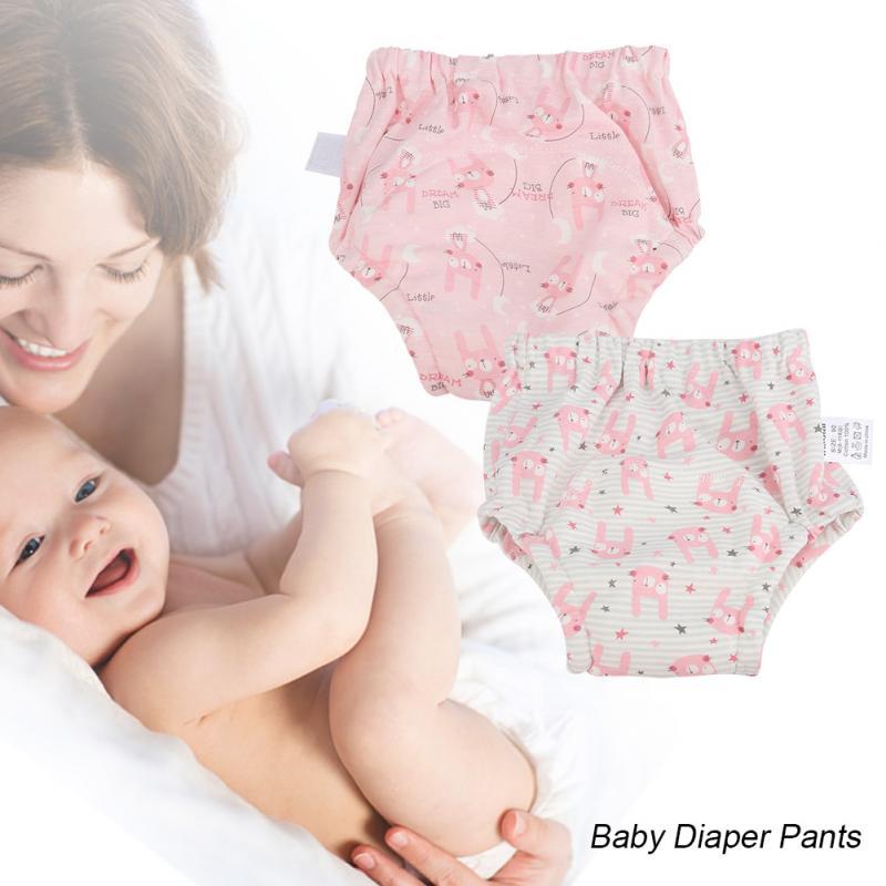 Insular 2Pcs/Set Baby Training Pants Cotton Washable Baby ...