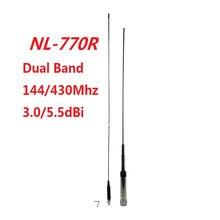 Tăng cao NL 770R Ăng ten Vô Tuyến Di Động Băng TẦN Kép VHF/UHF 144/430 mhz 3.0/5.5 dBi UHF M PL259 Kết Nối cho Walkie Talkie FT 8800
