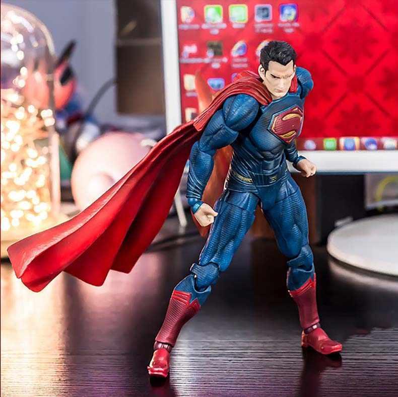 Аниме фильм Супермен фигурка Playarts Kai фигурка дети горячие игрушки Коллекция Модель Играть Искусство Кай супер человек кукла juguetes