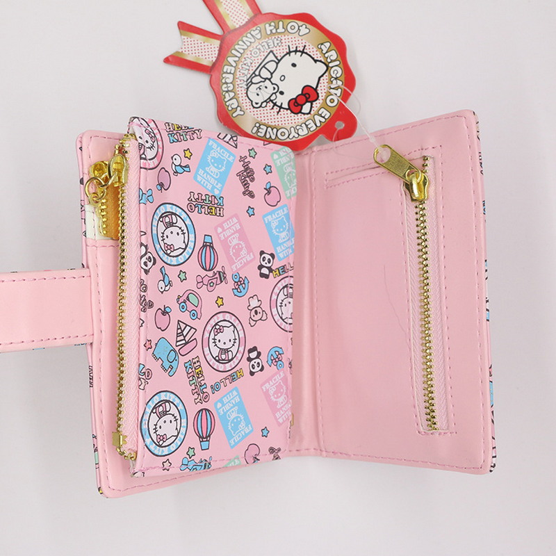 Free shipping floral business card holder women hasp wallet high free shipping floral business card holder women hasp wallet high quality pu pink hello kitty credit card wallet in card id holders from luggage bags on reheart Images