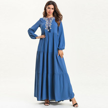 abayas for women muslim long abaya beautiful dresses Middle Eastern Long Dress Islamic Dubai Kaftan Ramadan Y525