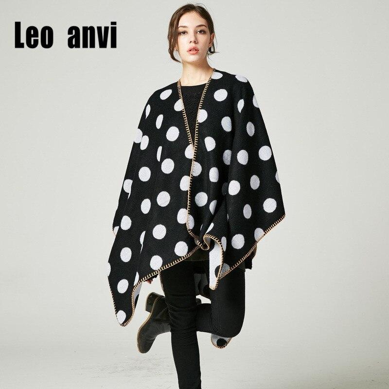 2017 new women scarf for winter stole warm Dot wrap tippet bandans geometric wild blanket cashmere Cape fashion Poncho Shawl