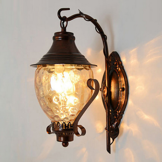 Corner Lamp Metal Wall Sconce Antique Bedside Lamps Dimmable Led Lights Light Industrial