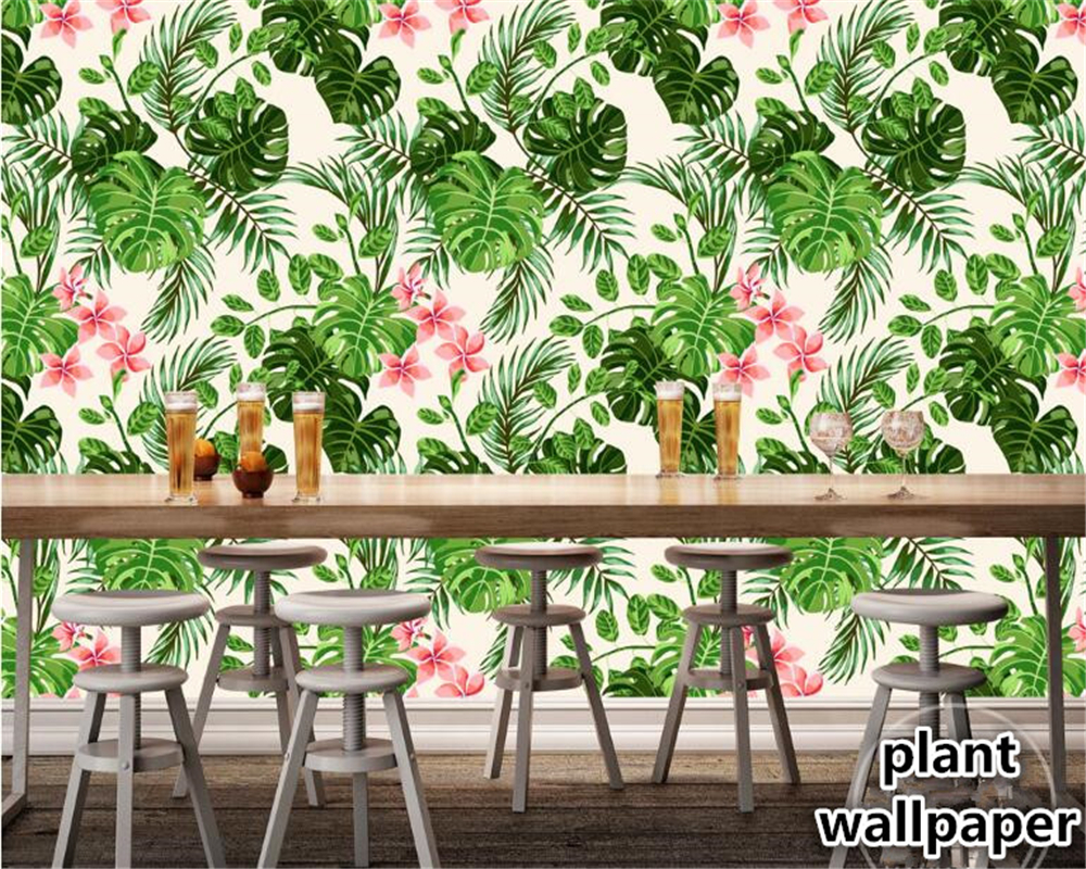beibehang Custom wallpaper hand-painted European classic pastoral banana tropical rainforest Southeast Asia wall 3d