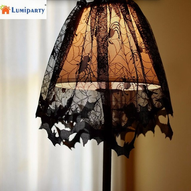 Lumiparty halloween lace lamp shades with black spiders and bats web lumiparty halloween lace lamp shades with black spiders and bats web design fireplace cloth for halloween aloadofball Image collections