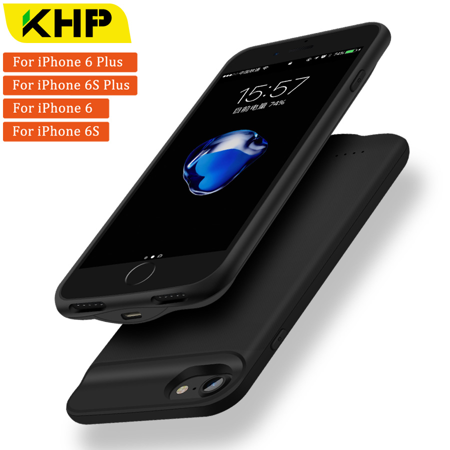 9a076a7d572fb 2018 KHP New Battery Charger Case For IPhone 6 Plus 6s Plus Case  2500 3200mAh Slim Power Bank Case External Battery PowerBank