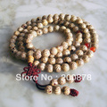 BRO655 Buddhism 108 Golden Silk Bodhi Seeds Prayer Beads Mala 9mm Natural Bodhi wooden beads bracelets Necklace for Man
