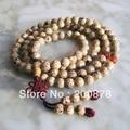 BRO655 Budismo 108 de Seda de Oro Bodhi Bodhi Semillas Granos de Rezo del Mala 9mm Naturales cuentas de madera Collar de las pulseras para Hombre