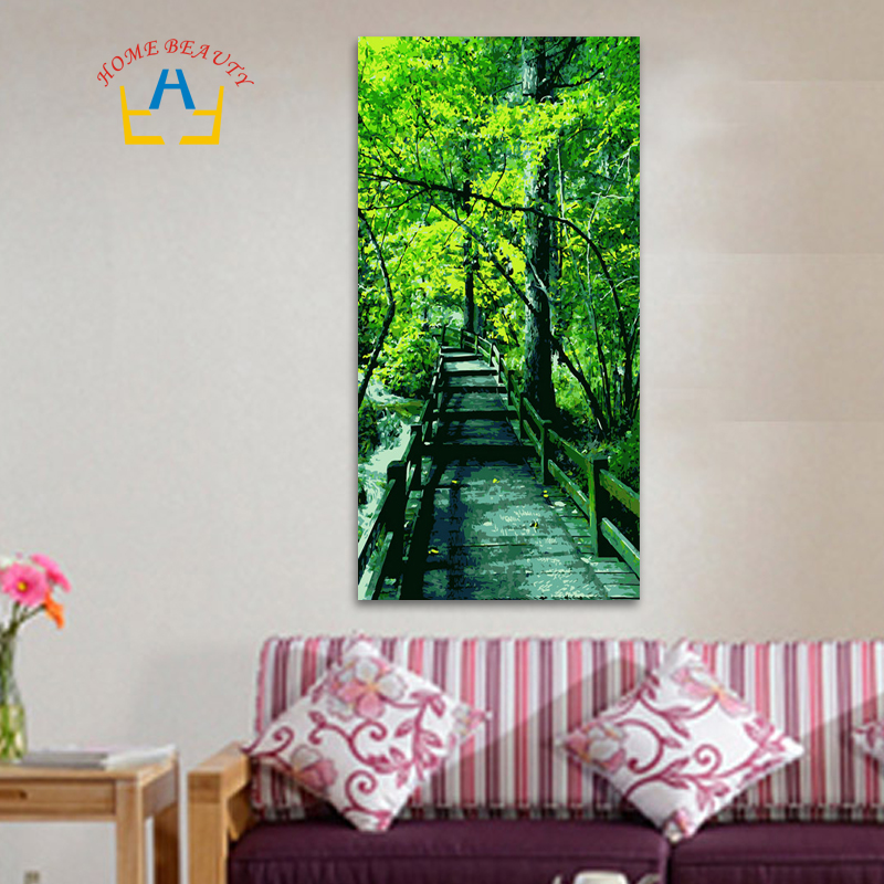 40*80cm large oil painting by numbers coloring drawing wall decor picture paint by number trees diy acrylic painting DY08