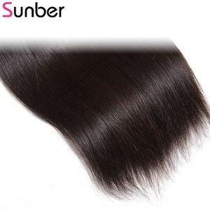 Image 5 - Прямые волосы Sunber, перуанские прямые волосы, 3 шт., высокое соотношение, волосы Реми, натуральный черный цвет, двойной уток 8  30 дюймов, можно повредить