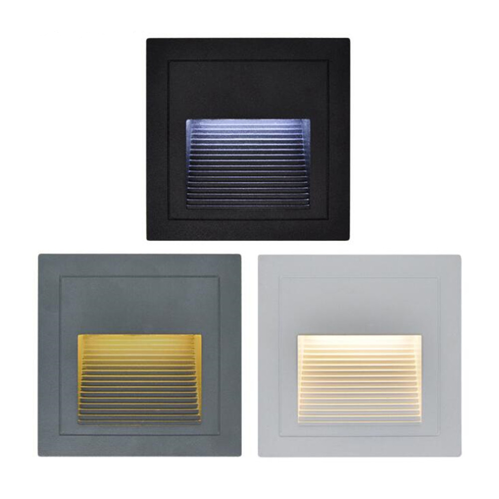 Modern Waterproof 3W LED Stairs Step Night Light Indoor / Outdoor Wall Lighting Corner / Deck / Recessed Deck Footlights