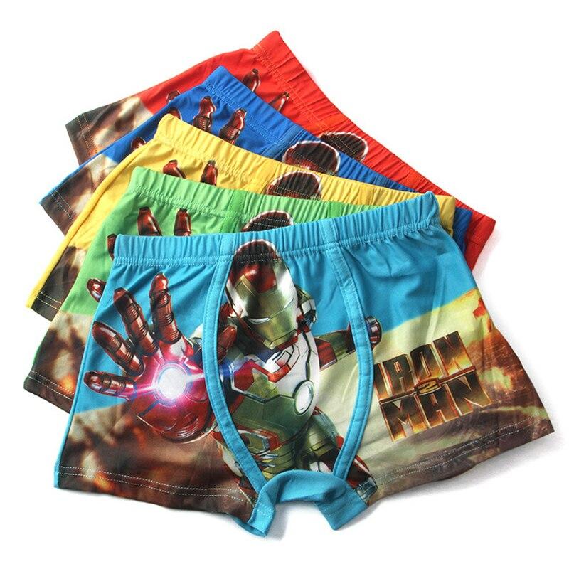 Cartoon Spiderman Boys Underwears Shorts Panties for Girls Teenager Child Panties Underpants Baby Girls Underwear Boys Boxer