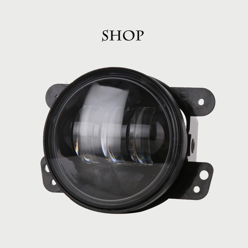2pcs/Pair 30w led 4 inch White Round fog lights lens Projector 4'' Fog Lamp For Offroad Jeep Wrangler 07-14 Dodge Chrysler 2pcs led round 4 inch fog lights 30w 4 fog lamp lens projector led driving headlamp for offroad jeep wrangler dodge chrysler