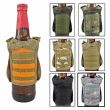 Тактический пивной жилет военный Molle жилет мини-бутылка для вина крышка жилет охладитель напитков регулируемый плечевой ремень