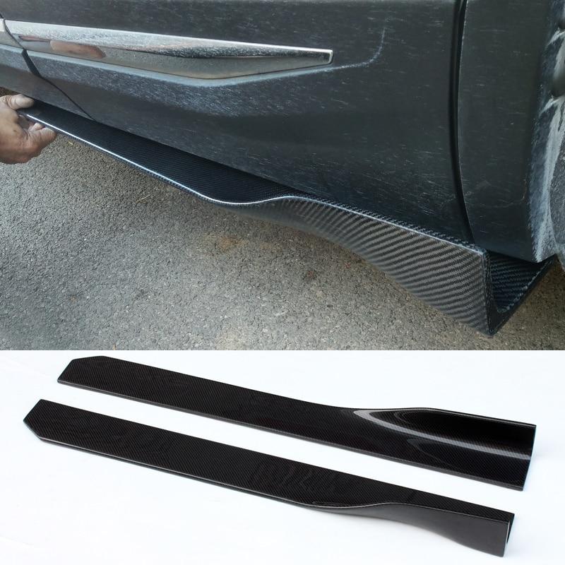 Currency short Style Body decoration Carbon fiber Side skirts For BMW E46 E60 E39 E87 E90 E92 F30