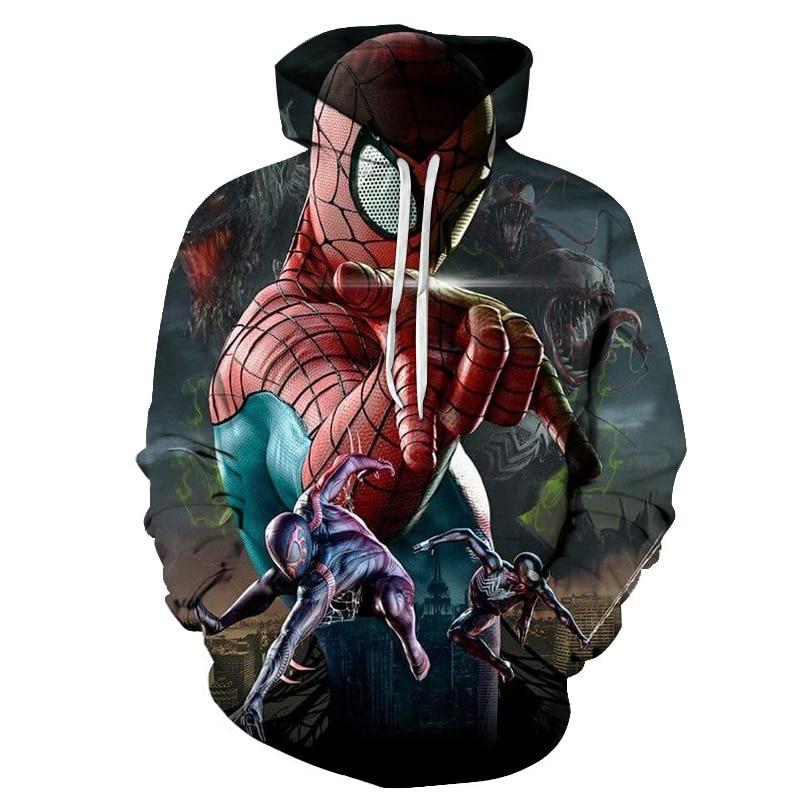 New 2019 Marvel Comics 3D Printed Iron Spiderman Sweatshirt Men/Women Tops Hoodie Men Fashion Autumn Hoodies Streetwear Clothes