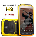 Grandes Regalos! original hummer h8 5 pulgadas smartphone mtk6572 dual core 3000 mah gps a prueba de choques impermeable 3g teléfono móvil h6