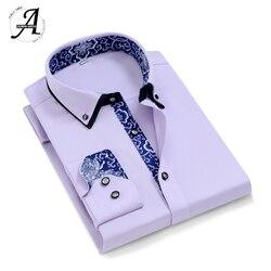 9XL 5XL Regular Fit Long Sleeve Casual Shirts For Men 2019 Brand New Casual Men Shirts 6XL Camisas Manga Larga Masculina 1