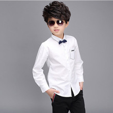 Children s clothing 2016 new spring white cotton Boys Long Sleeve Shirts