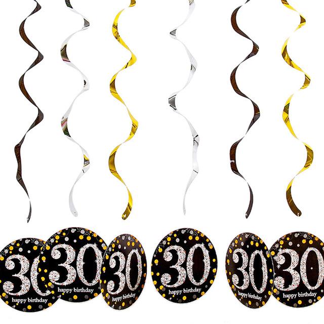 Birthday Party Tableware Sets for 21/30/40/50/60 Birthday Celebrations