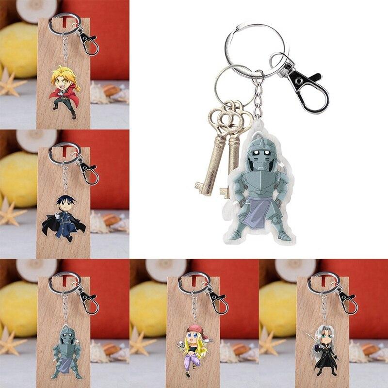 Cartoon Acrylic Key Chain Funny Novelty Pendant Keyring Man Girl Keychain