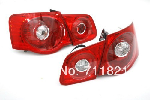 Non-LED Full Red Color Stock Tail Light For VW Jetta MK5