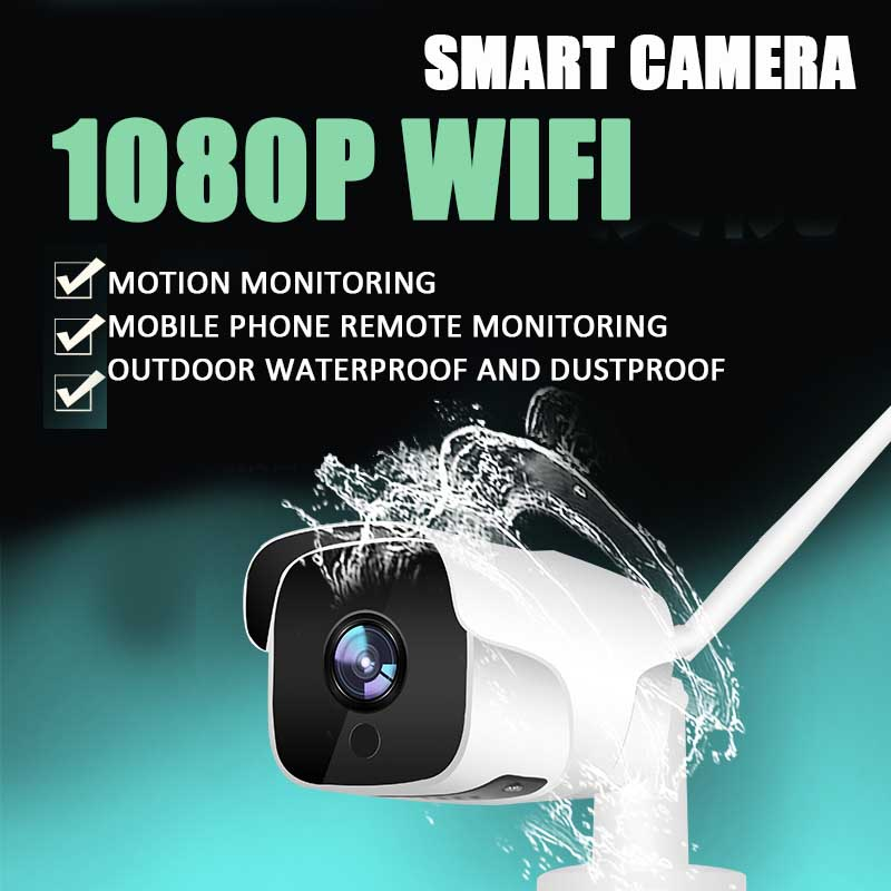 EC60 IP WIFI Camera Surveillance Outdoor Camera WiFi 1080P H.264 HD IP Camera Weatherproof Security 18pcs IR lights Support 128G