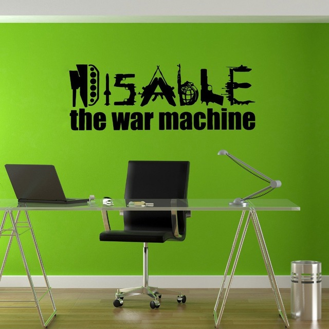 Stickers Wall Art Wall Decals Home Decor Wall Stickers Decor Sticker Art Prints Disable War Machine Love Joy Hippie