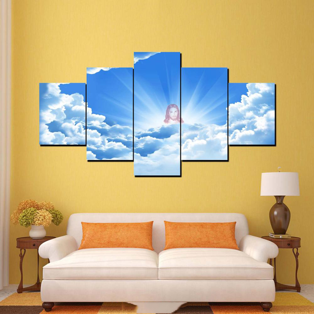 Online Shop HD Printed Modern Canvas Framework Pictures 5 Panel ...