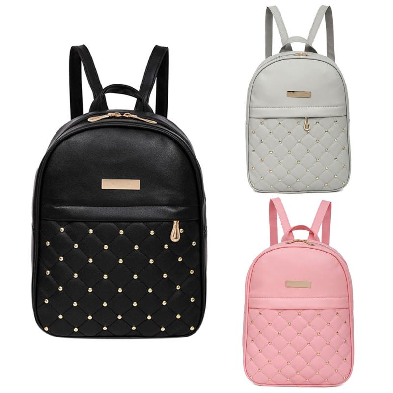 MOJOYCE Casual Travel Bead Backpack for Teenage Girls PU Leather SchoolBag Backpack Mochila feminina Backpacks Shoulder Bags