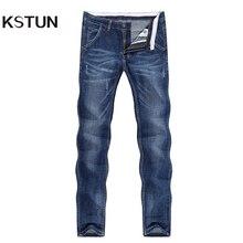 KSTUN Jeans Men Summer 2019 Thin Blue Slim Straight Denim Pants Casual Fashion M