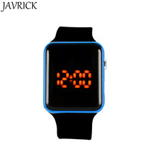 JAVRICK унисекс силиконовый светодиодный спортивные часы Цифровой браслет наручные часы черные часы подарок