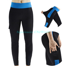 New 2016 Women Skinny Sweatpants Pants Capris Ankle Length Elastic Mid Waist Spliced Pocket Pencil Pants Female Sportswear