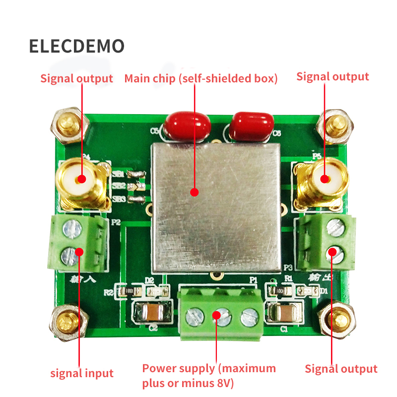 Image 2 - TLC2652 Module Weak Signal Acquisition Amplifier Module DC Signal Amplification Chopper Amplifier Function demo Board-in Demo Board Accessories from Computer & Office