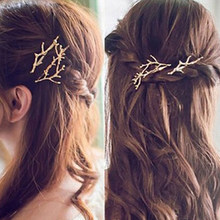 Donne dell'annata Principessa Antler Deadwood Bobby Pin Tornante Clip di Capelli Accessorio(China)