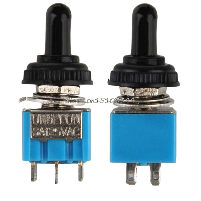 MTS203 AC ON / OFF / ON 3 DPDT Position Toggle Switch Waterproof G08 ...