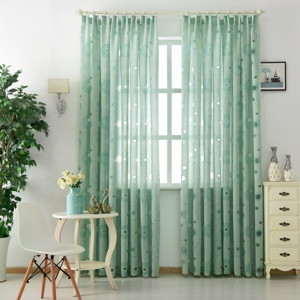 Floral moderne vorhang dekoration wohnzimmer vorhänge fenster stoff ...
