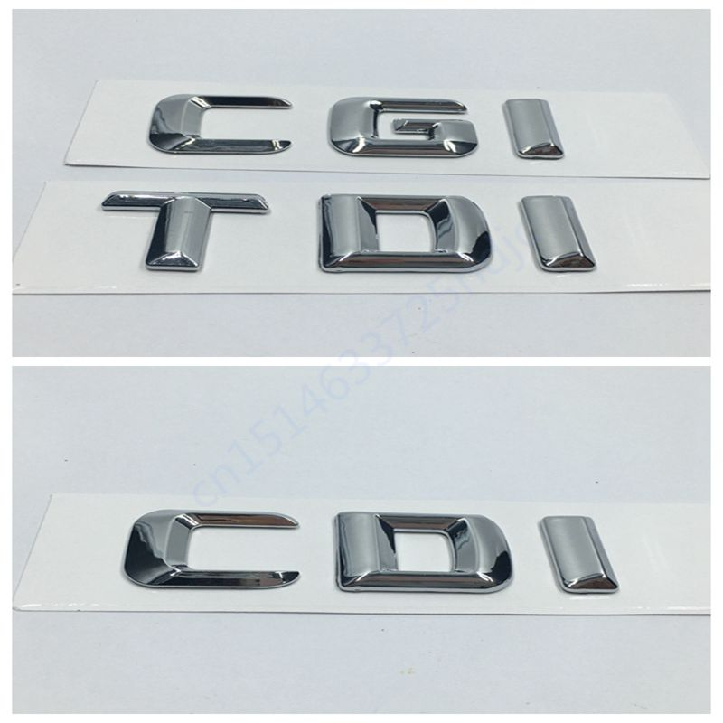 High Quality ABS Car Rear Trunk Emblem Lettering Badge Sticker CDI CGI TDI for Mercedes W210 W211 W212 W203 W204 W207 W209 набор для мытья посуды vigar lolaflor цвет зеленый синий 3 предмета