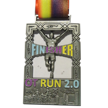 run medals cheap OEM 3D with ribbons high quality custom sports enamel color