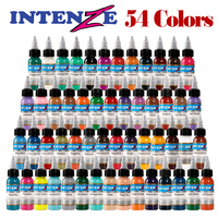 Tattoo Ink 54 Colors Set 1 oz 30ml/Bottle Tattoo inks Pigment Kit for 3D makeup beauty skin body art Permanent makeup