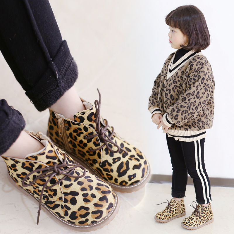 2019 Winter New Girlsboots Childrens Cotton Shoes Winter Flannel Martin Boots Leopard-print Boots Children Shoes Toddler Boot2019 Winter New Girlsboots Childrens Cotton Shoes Winter Flannel Martin Boots Leopard-print Boots Children Shoes Toddler Boot