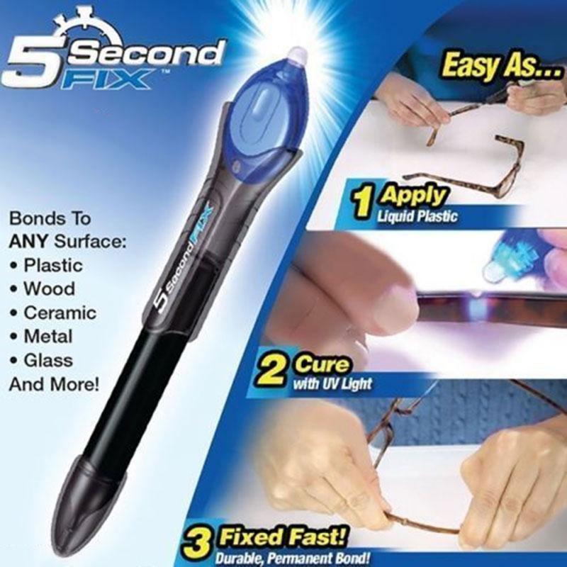 1PC כל דבר ב 5 שני לתקן UV אור תיקון כלי עם דבק סופר מופעל פלסטיק ריתוך מתחם