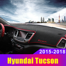 Car Dashboard Avoid Light Pad Instrument Platform Cover Mats Carpets LHD For Hyundai Tucson 2015 2016 2017 2018 2019 Accessories стоимость