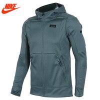 Autênticos homens da Nike Kobe Blazer esporte malha Respirável jaqueta Com Capuz Casaco cinza Verde