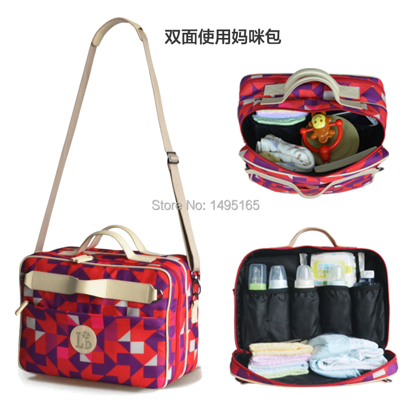 ФОТО free shipping waterproof multifunctional nappy bags handbag cross-body buggiest car laptop bag mummy bag baby diaper bag