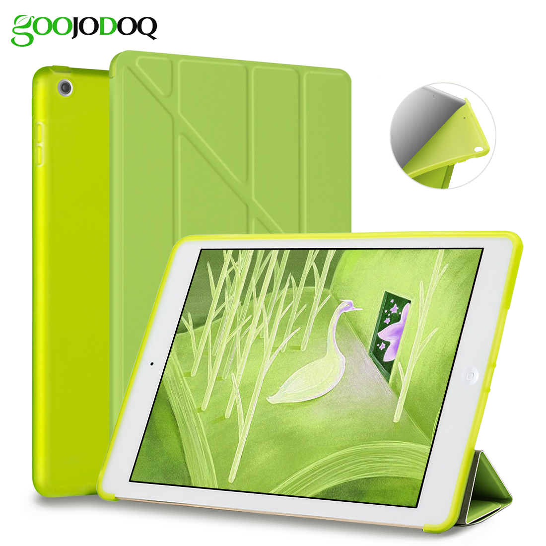 Case for iPad 2 3 4 / Mini 4 3 2 1 Case with Silicone Soft Back, Multi-fold PU Leather Smart Cover for Apple iPad Mini 4 for ipad mini silicone case soft tpu back case bottom case cover for 7 9inch apple ipad mini 1 2 3 4 tablet case for mini ipad