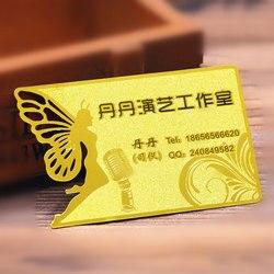 الذهب المعادن عضوية بطاقة مع متجمد النقش و انقطاع