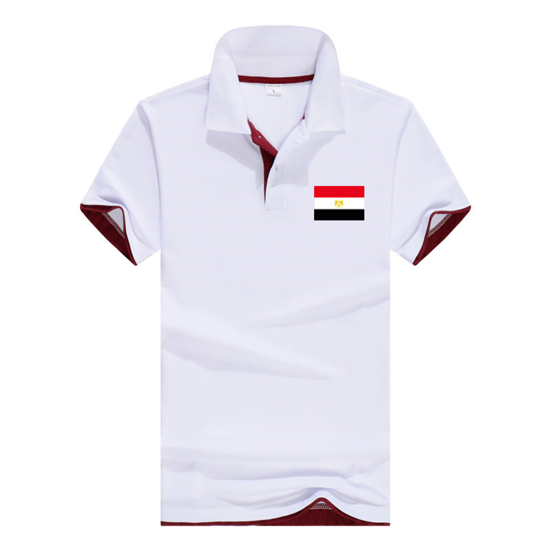 Egypt   Polo   shirt Men Big Size   Polo   Top Summer Boys shirts For Men Regular Sewing Egypt Flat Adult Casual Solid Apparel