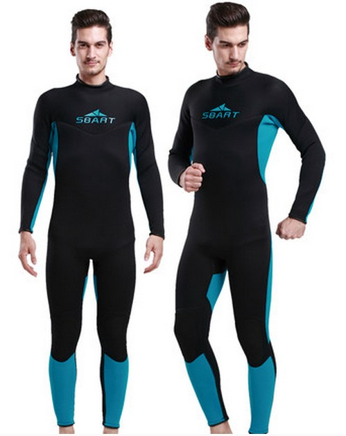 Mens 3mm full body black and sky blue Wetsuit male thickened one piece Diving suit winter thermal snorkeling suit swimsuit miller titan by honeywell ac qc xsbl aircore full body harness x small blue